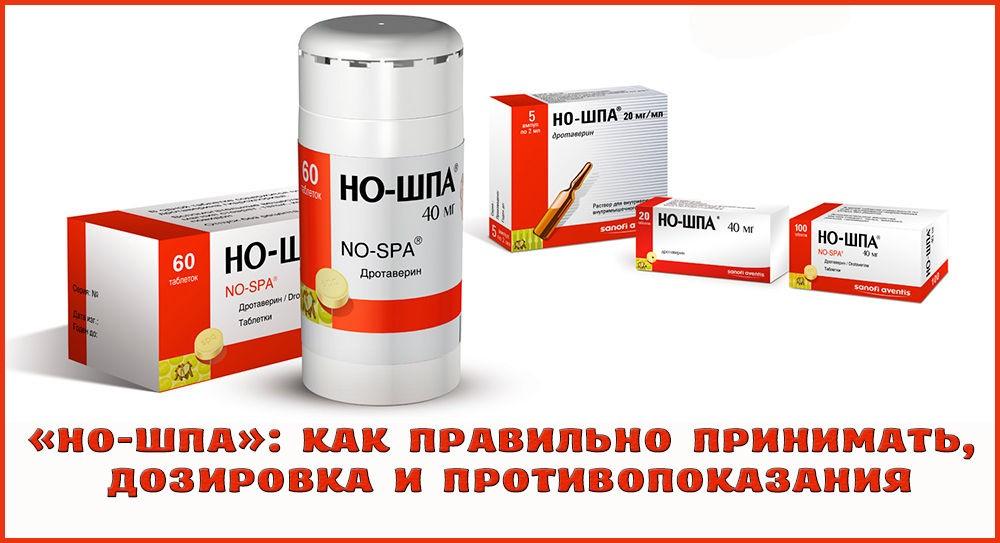 Прием препарата Но-шпа