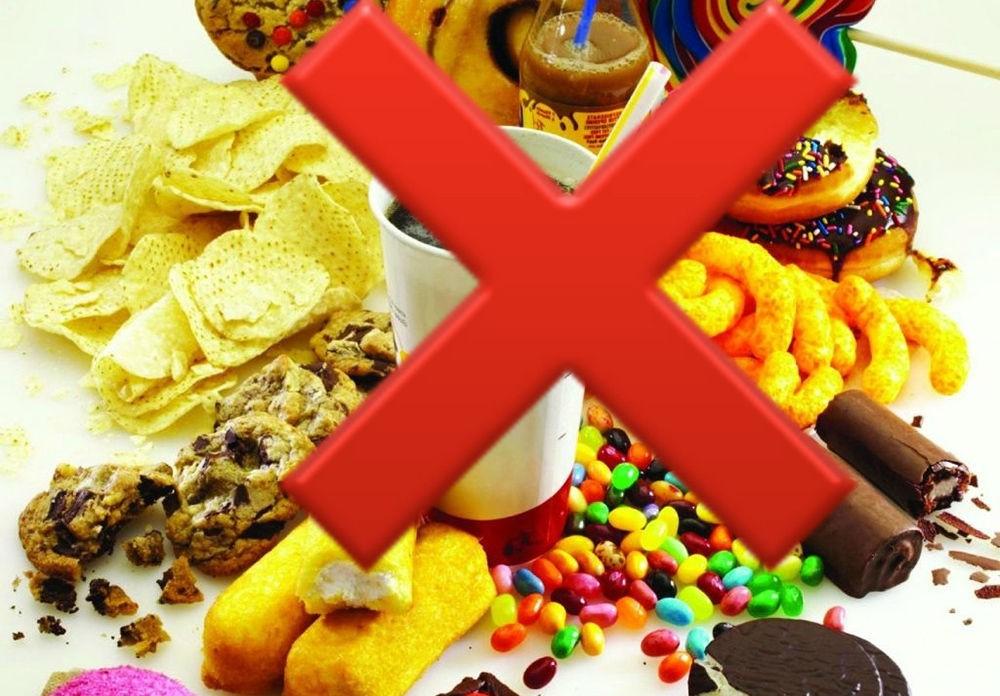 Ограничить вредные продукты