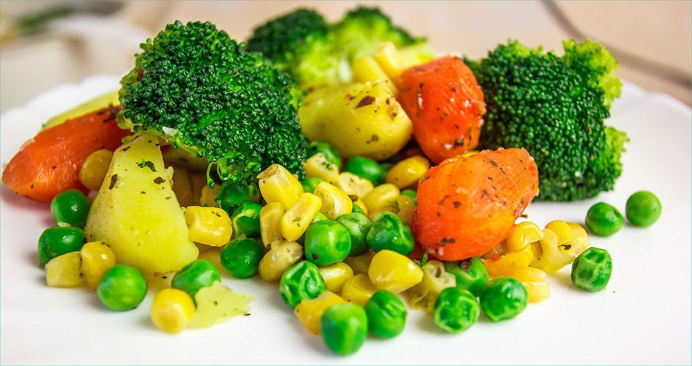 Приготовленные на пару овощи